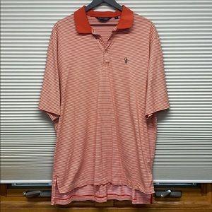Ralph Lauren Orange/white striped golf polo shirt
